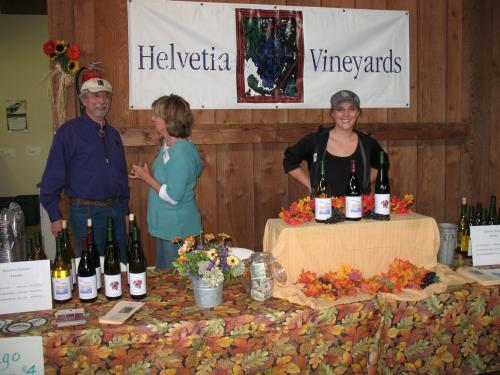 John Platt and the Helvetia Winery crew