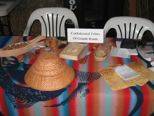 The Grand Ronde information table